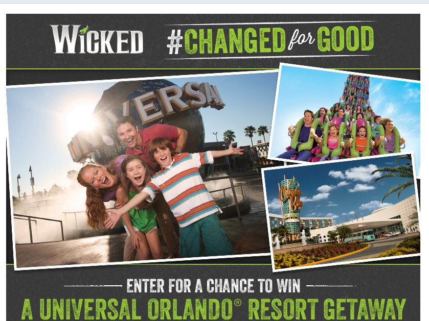 Wicked Changed for Good Sweepstakes