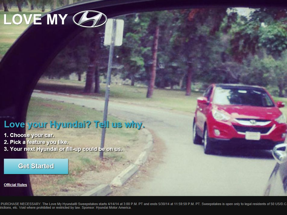 Love My Hyundai Sweepstakes