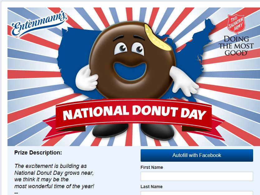 2014 Entenmann's National Donut Day Sweepstakes