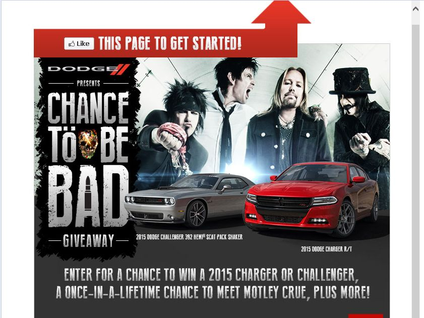 Dodge Chance to Be Bad Giveaway