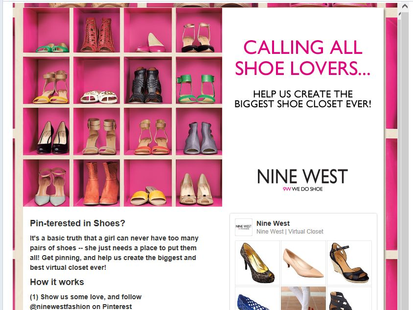 "Nine West ""Dream Pinterest Closet"" Contest"