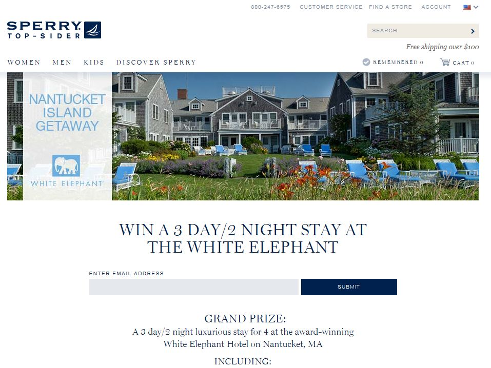 The Sperry Top-Sider Nantucket Getaway Sweepstakes