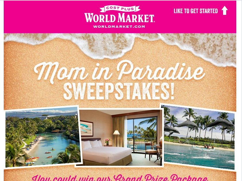 World Market's Mom In Paradise Sweepstakes