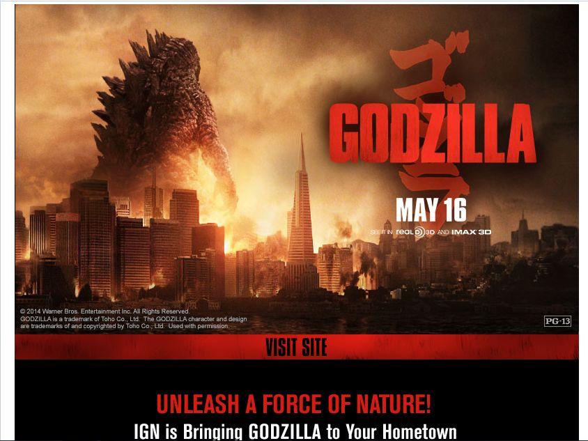 Godzilla 3-D Early Screening Giveaway