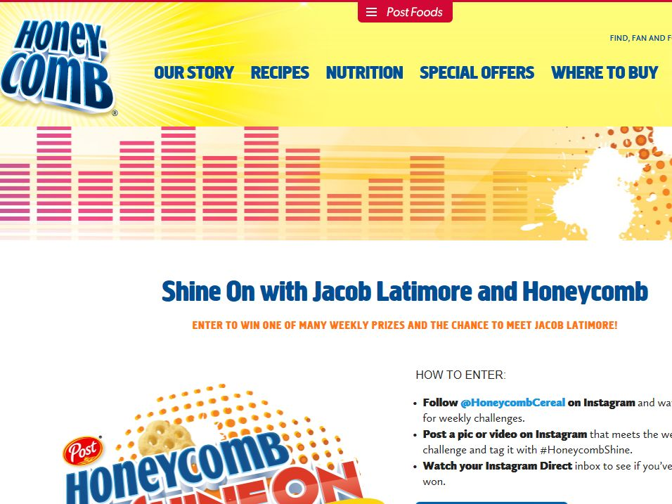 "Honeycomb ""Shine On"" Sweepstakes"