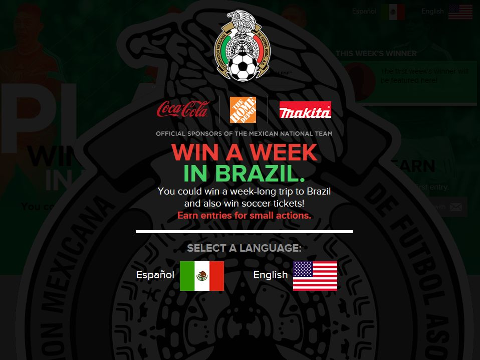 Win To Brazil Sweepstakes