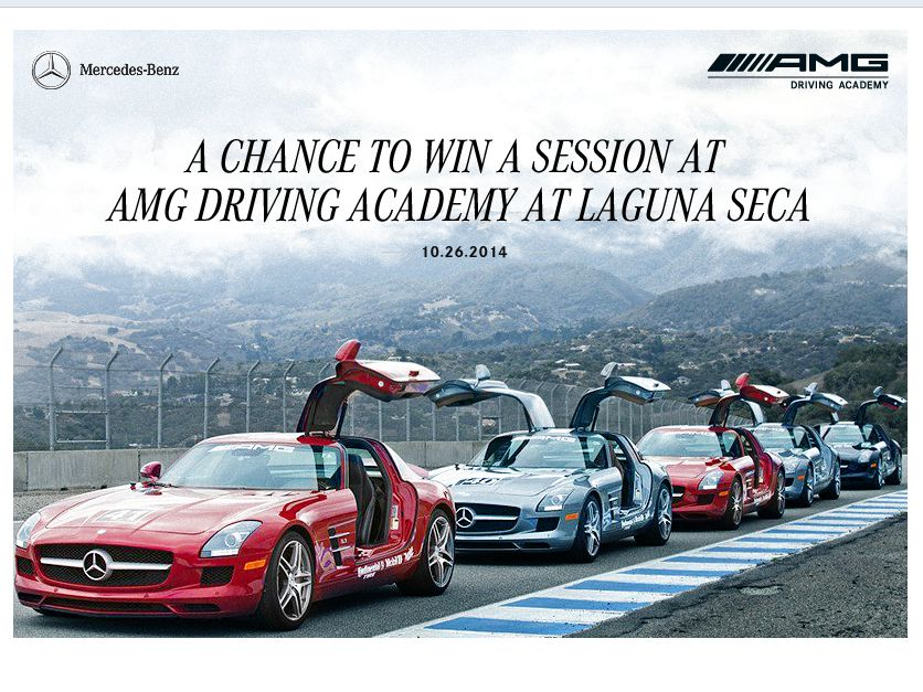 2014 Mercedes-Benz AMG Driving Academy Sweepstakes