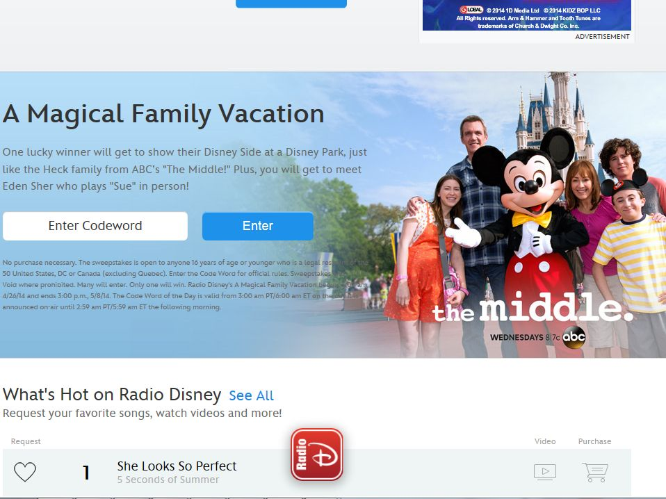 Disney Radio A Magical Family Vacation Sweepstakes – Code Required