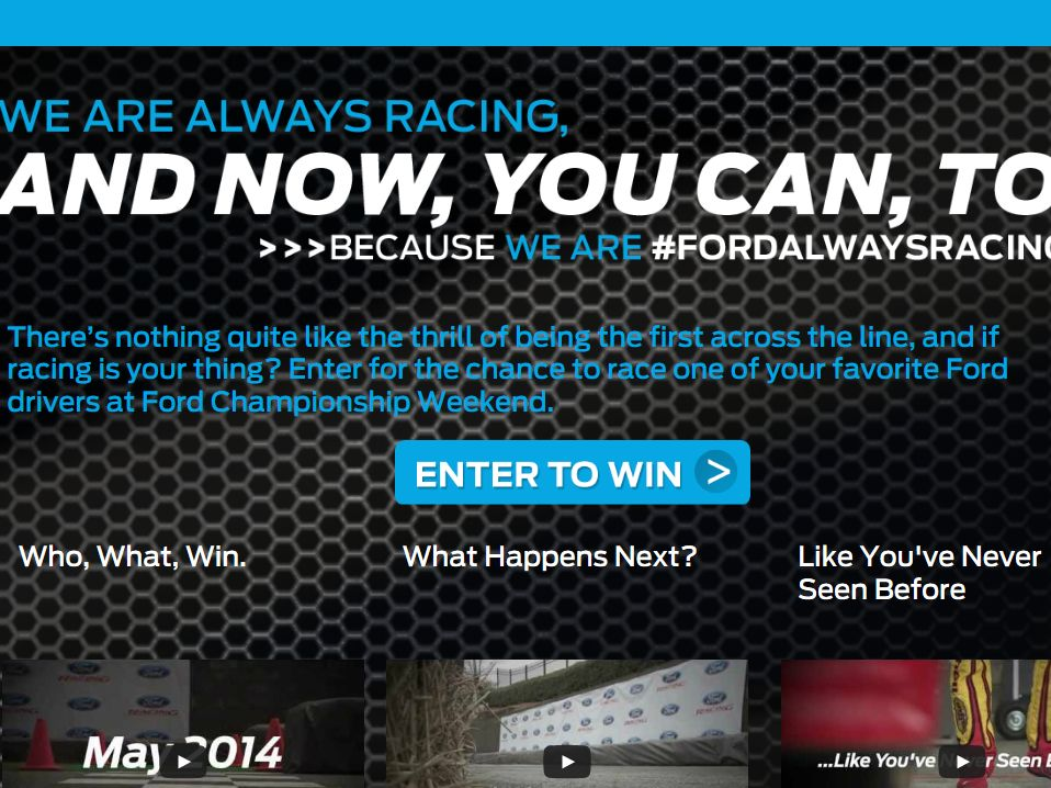 Ford Always Racing Sweepstakes