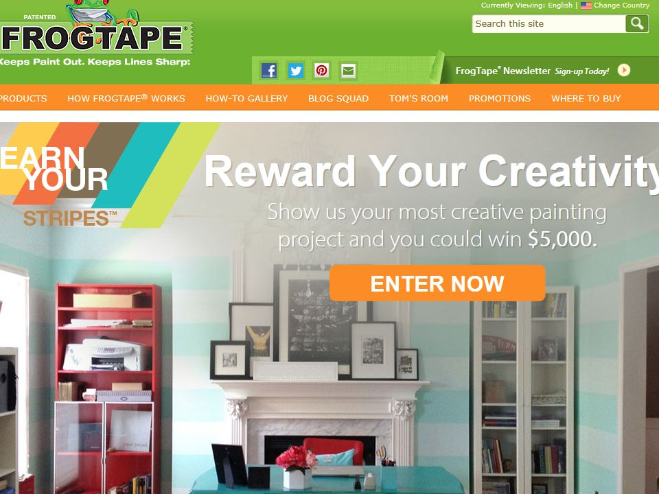 2014 FrogTape Brand Painter's Tape  Earn Your Stripes Contest