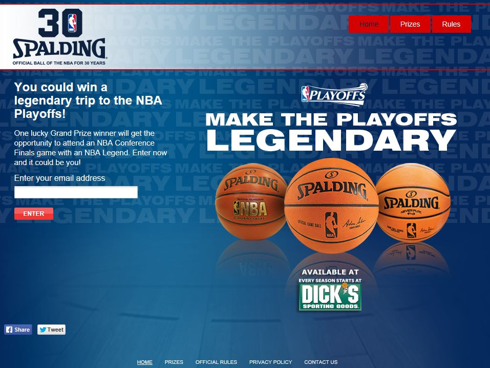Spalding Make the Playoffs Legendary Sweepstakes