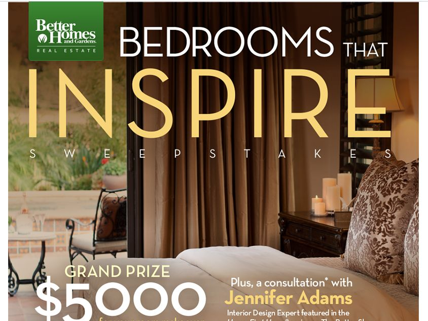 The Better Homes and Gardens Real Estate Bedrooms that Inspire Sweepstakes