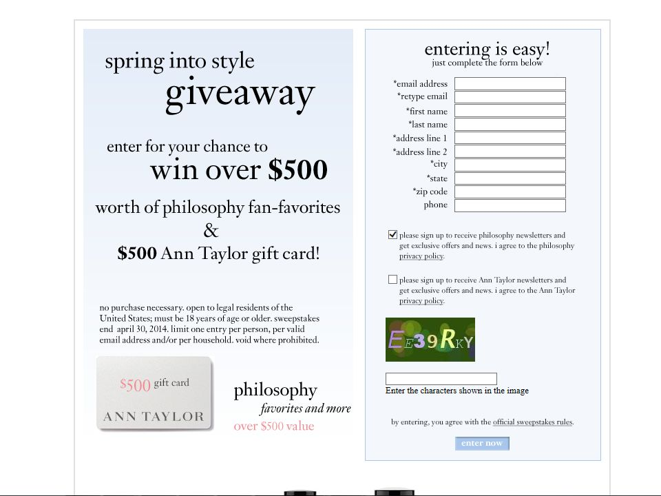 Philosophy Spring into Style2014 Sweepstakes
