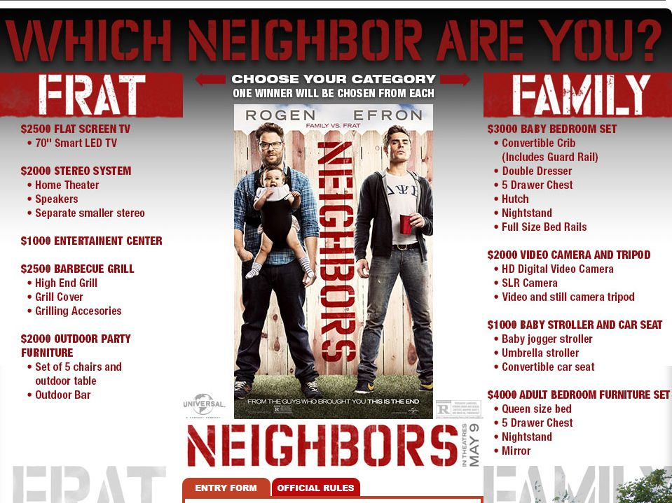 Cinemark Which Neighbor Are You? Sweepstakes