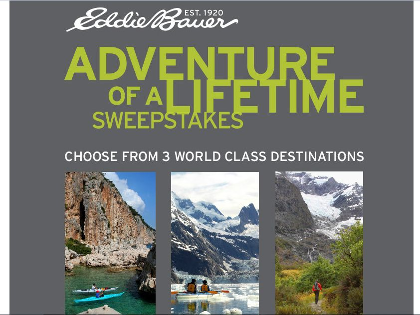 Eddie Bauer Adventure of a Lifetime Sweepstakes