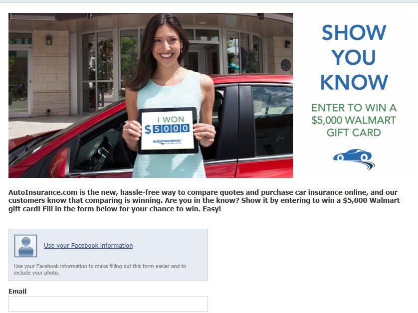 AutoInsurance.com Sweepstakes
