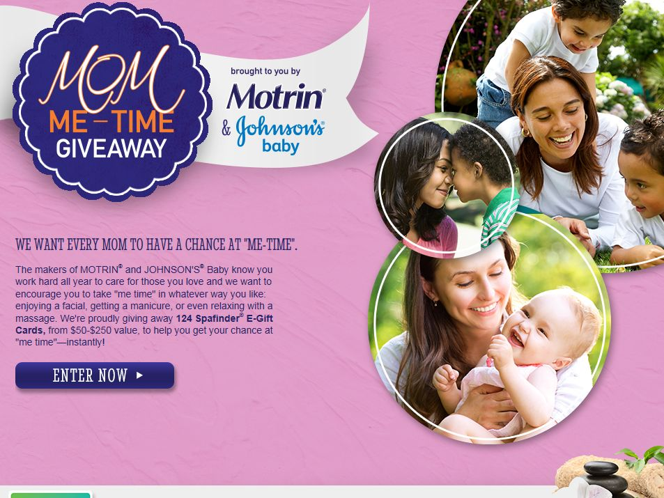 Motrin Mom Me-Time Giveaway Sweepstakes