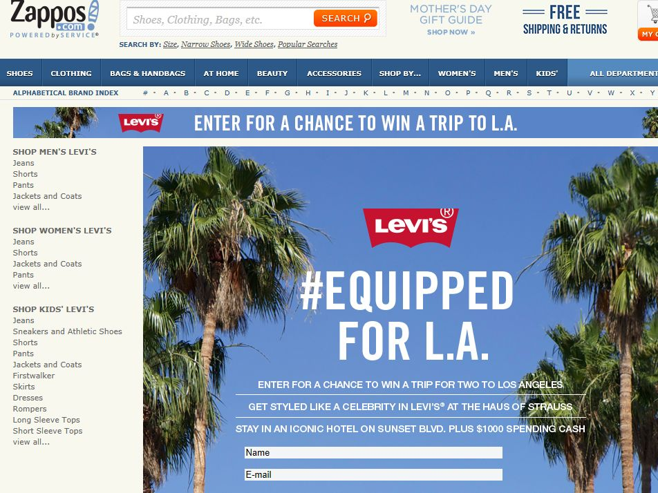 Zappos.com #Equipped to Get Styled Sweepstakes