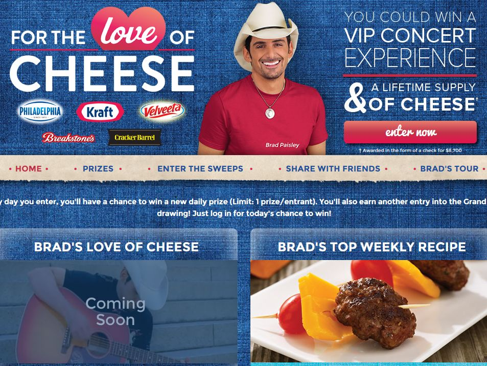 Kraft For the Love of Cheese Sweepstakes