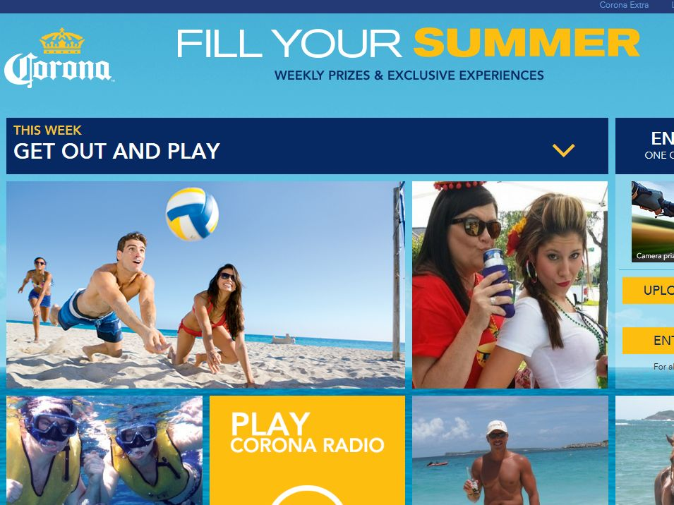 "Corona ""Fill Your Summer"" Sweepstakes"