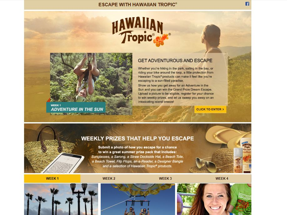 Escape with Hawaiian Tropic Contest and Sweepstakes