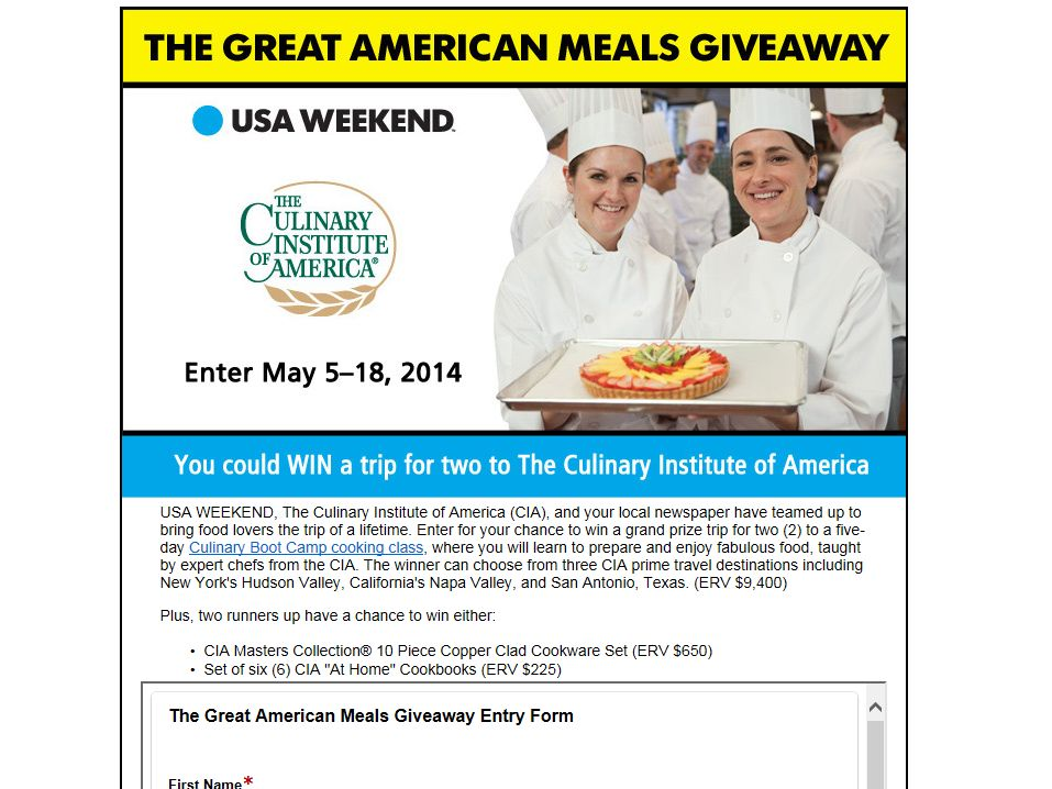 The Great American Meals Giveaway