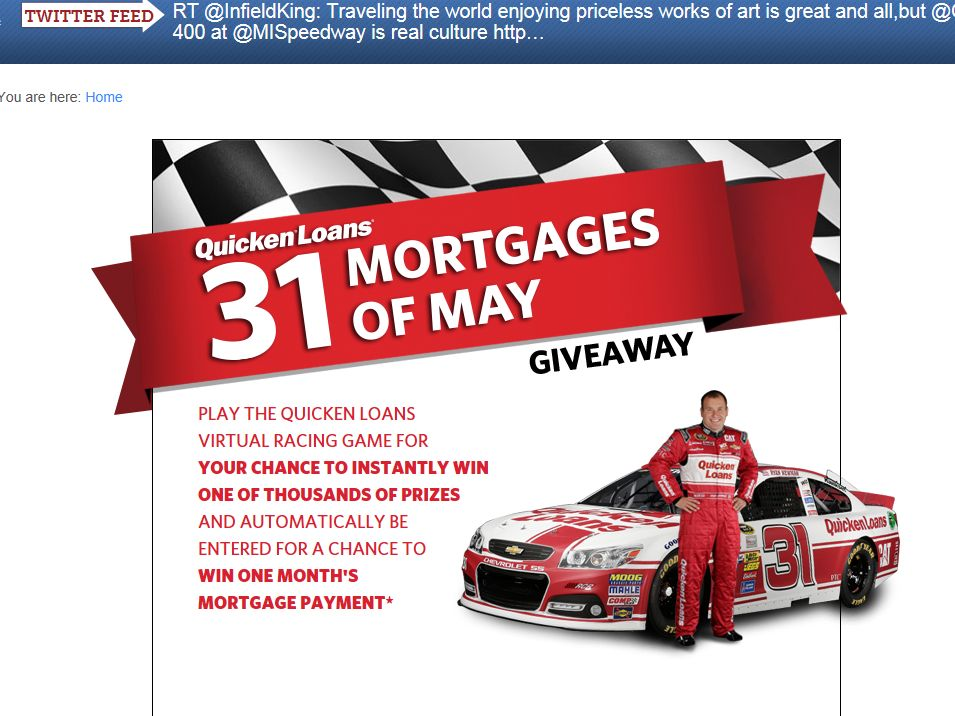 Quicken Loans 31 Mortgages of May Giveaway Sweepstakes