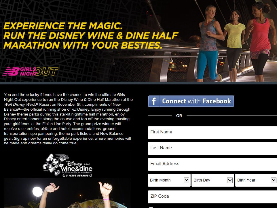 New Balance Girls Night Out Sweepstakes