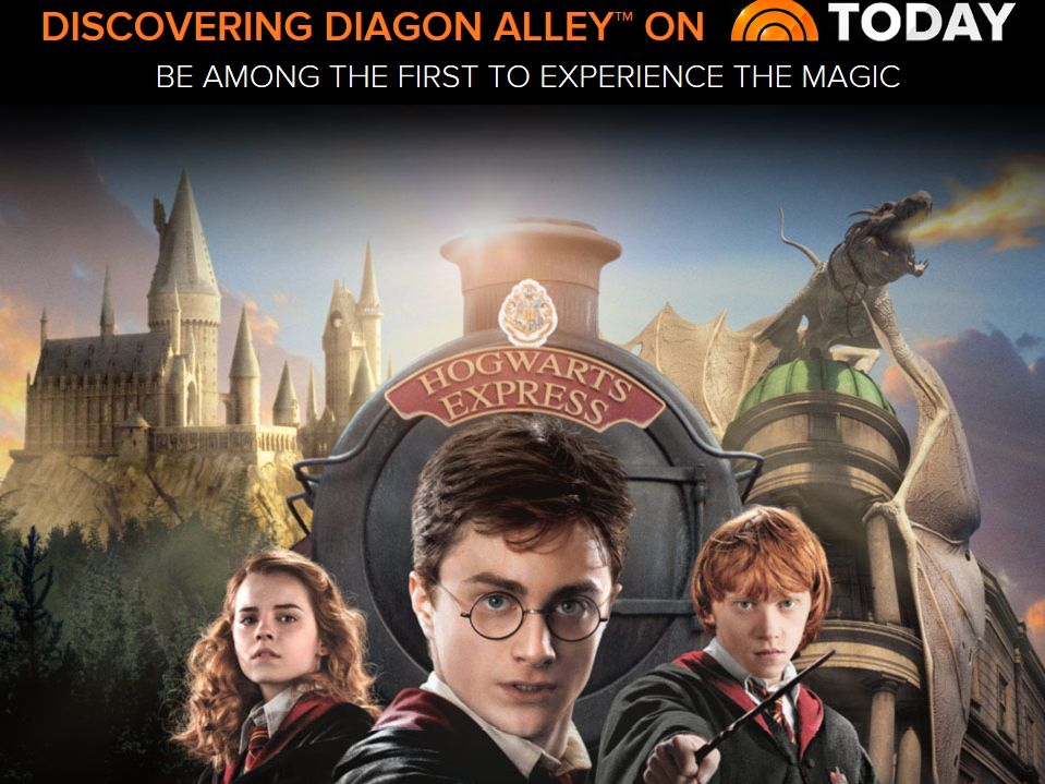 Discovering Diagon Alley on TODAY Sweepstakes
