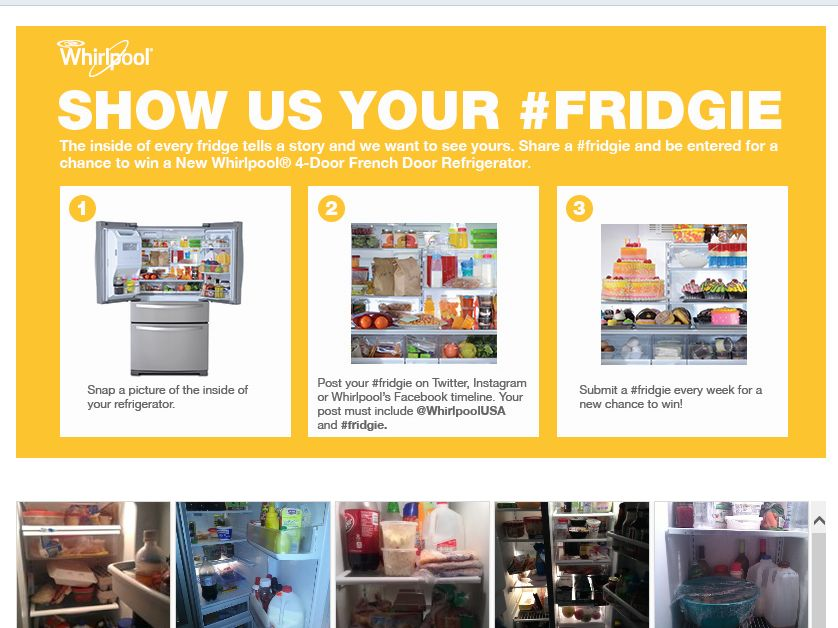 The Whirlpool #Fridgie Sweepstakes