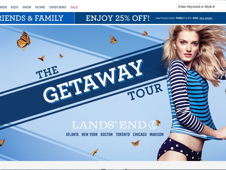 The Lands' End Getaway Tour Sweepstakes