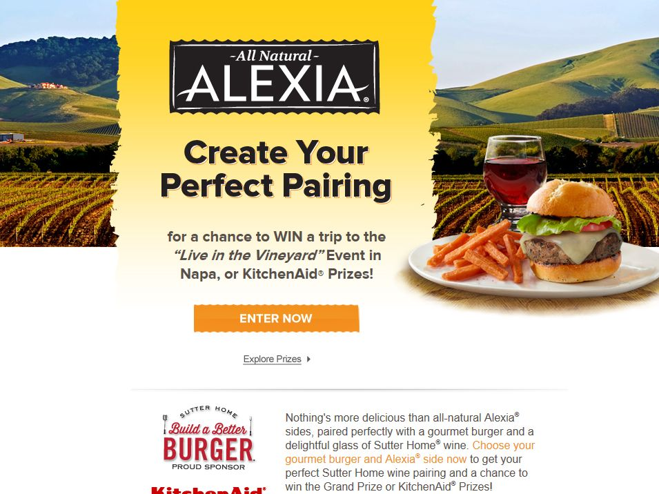 Build a Better Burger with Alexia Sweepstakes