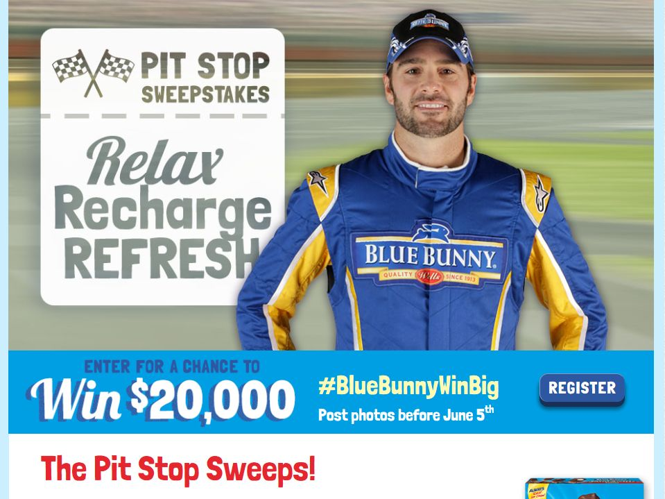 The Blue Bunny Pit Stop Sweepstakes