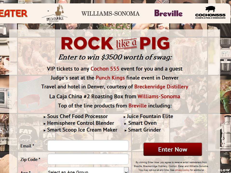 The Cochon Tour Rock Like a Pig Sweepstakes