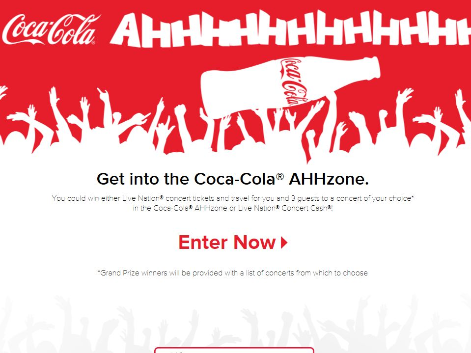 Coca-Cola AHHzone Instant Win Sweepstakes