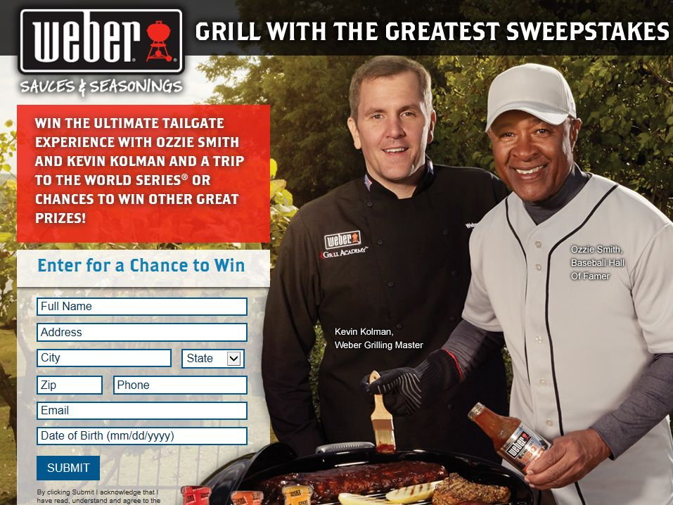 Grill with the Greatest Sweepstakes