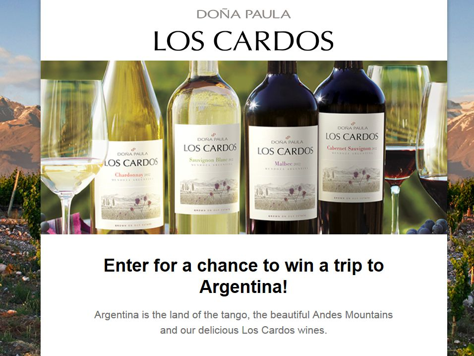 Passion of Argentina Sweepstakes