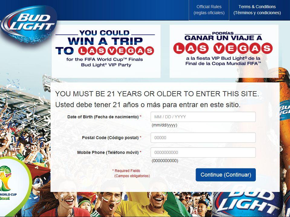 Bud Light / FIFA WORLD CUP Sweepstakes