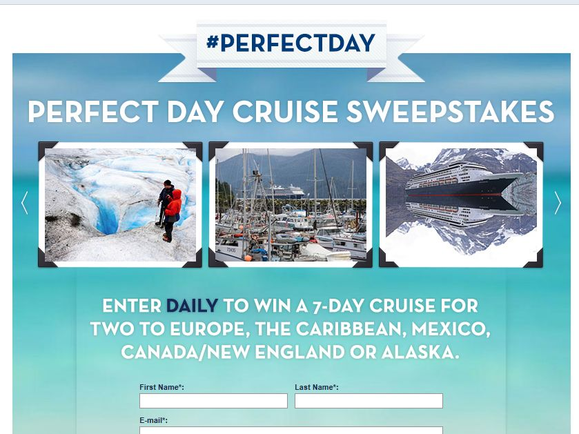 HOLLAND AMERICA LINE Perfect Day Cruise Sweepstakes