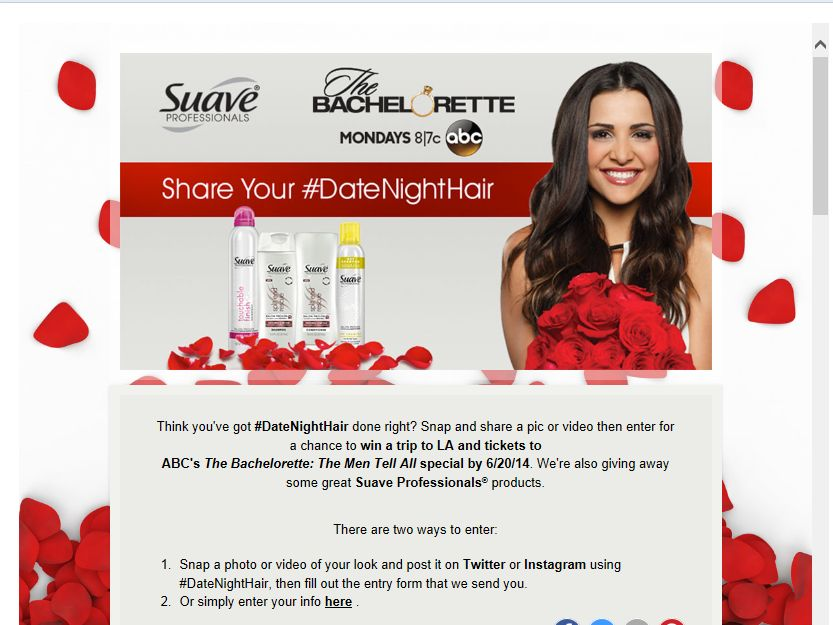 Suave Professionals #DateNightHair Sweepstakes
