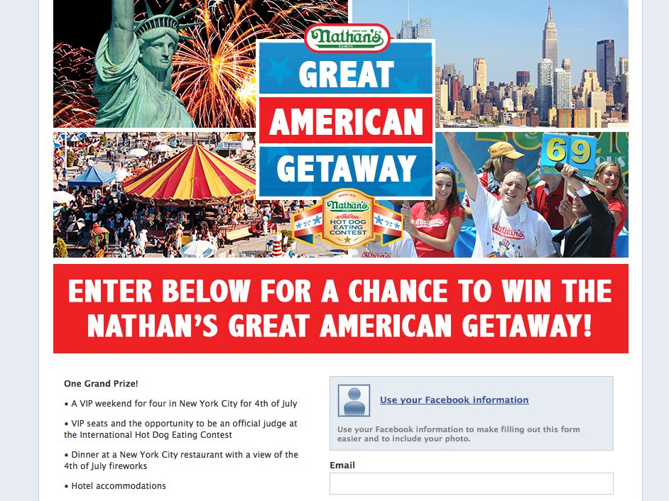 Nathan's Famous Great American Getaway Sweepstakes