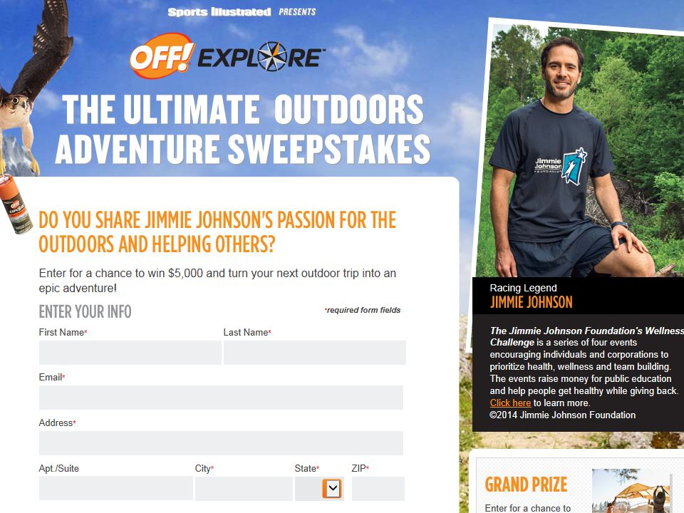 "The Sports Illustrated ""The OFF! Explore the Ultimate Outdoors Adventure"" Sweepstakes"