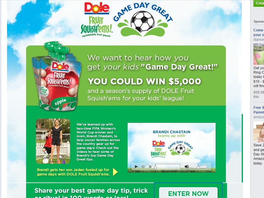 """The DOLE Fruit Squish'ems """"Game Day Great"""" Contest"""