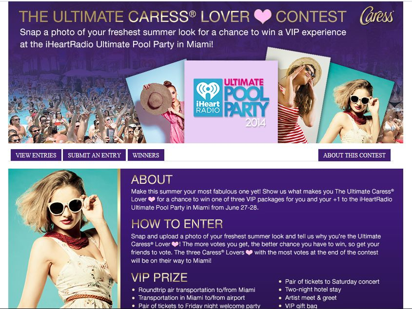 The Ultimate Caress Lover Contest