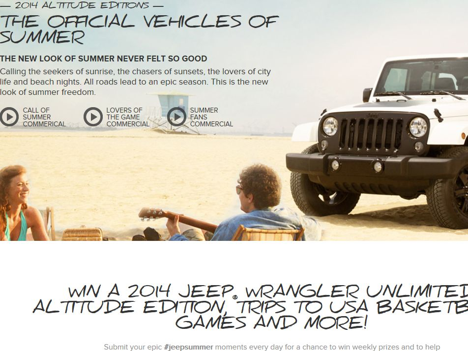 Jeep Summer Moments Sweepstakes