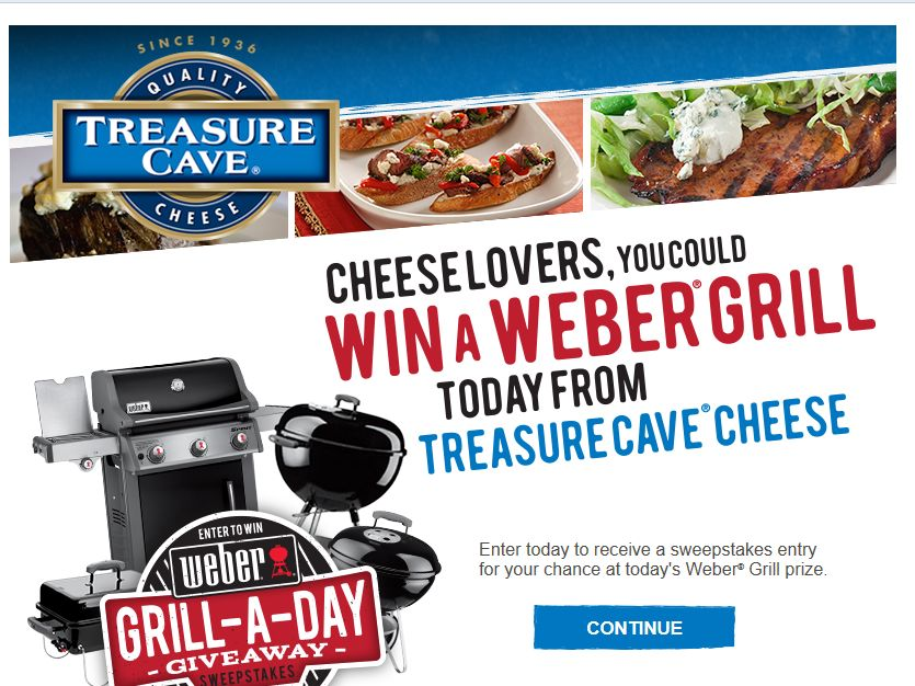 Treasure Cave Grill-A-Day Sweepstakes