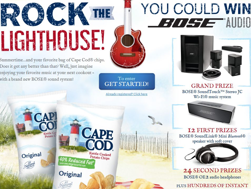 """Cape Cod Potato Chips """"Rock the Lighthouse"""" Sweepstakes"""