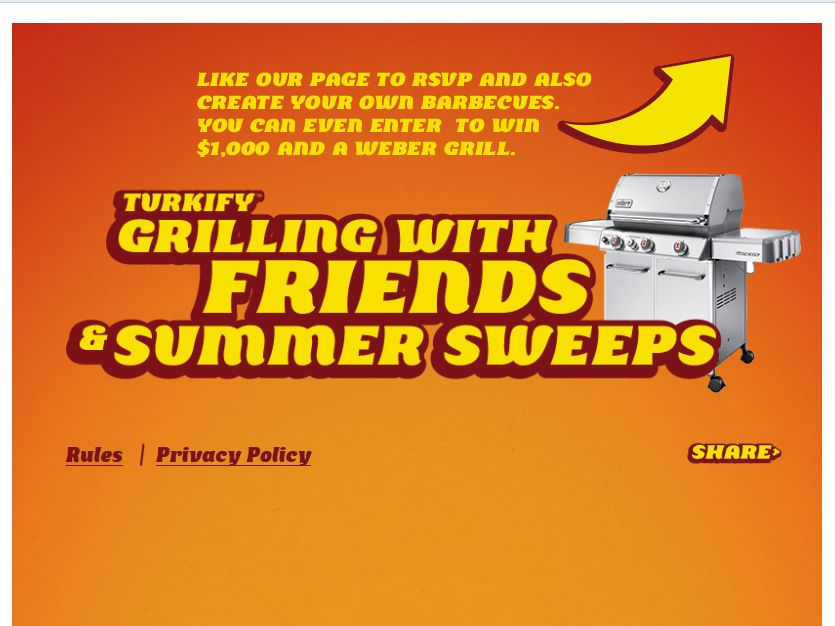 Cargill Meat Solutions Turkify Summer Sweepstakes