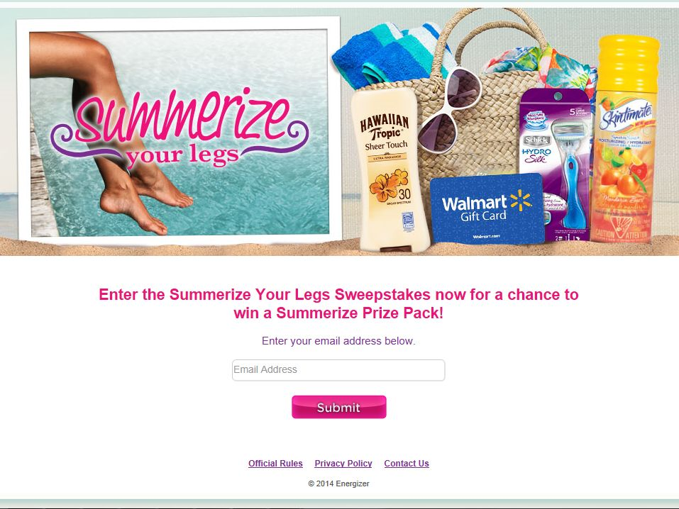 Summerize Your Legs Sweepstakes