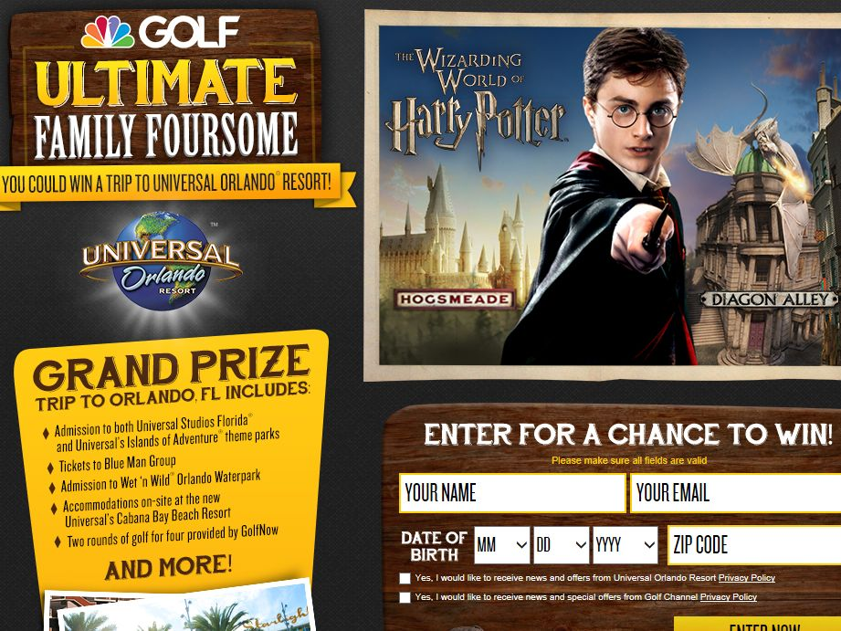 Golf Channel's Ultimate Family Foursome Sweepstakes